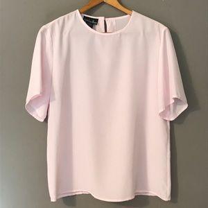 Vintage Millennial Pink Minimalist Blouse